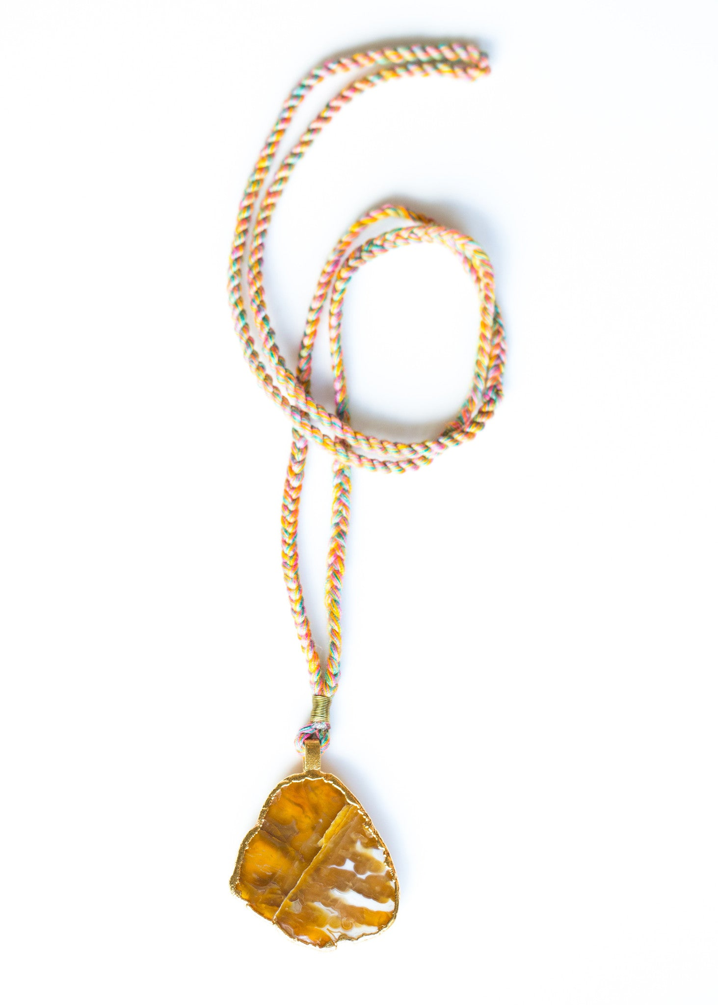 EARTH AGATE NECKLACE IN 9 CARAT