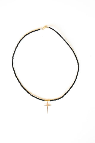 AHE CROSS CHOKER NECKLACE