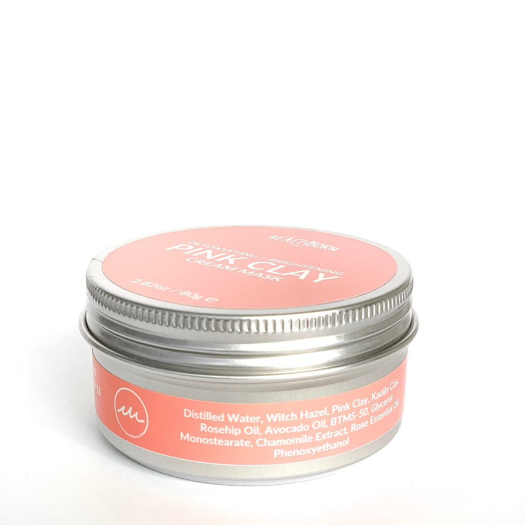 Pink Clay Mask - BEACH BORN