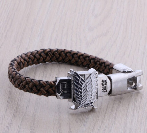 Attack On Titan Braided Bracelet