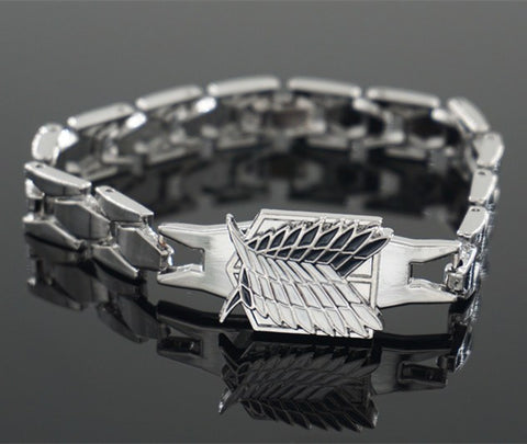 Attack on Titan Silver Bracelets