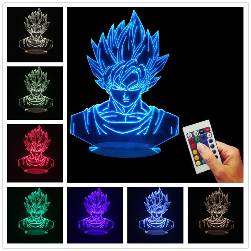 Dragon Ball Super Goku Led Table Lamp