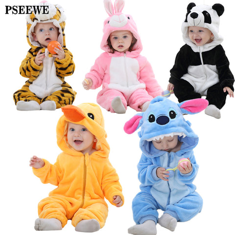Cute Baby Rompers Warm Clothes Jumpsuit