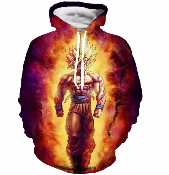 Dragon Ball Z Cool Fire Goku Sweatshirts Pullovers