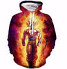 Image of Dragon Ball Z Cool Fire Goku Sweatshirts Pullovers