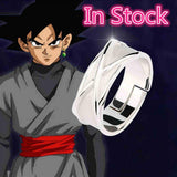 Image of Dragon Ball Super Black Goku Silver Ring