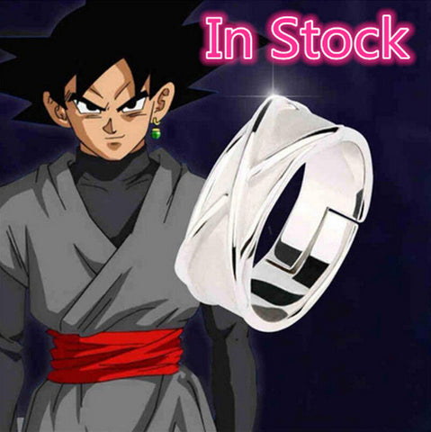 Dragon Ball Super Black Goku Silver Ring