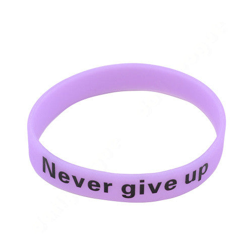 Never Give Up Glow in the Dark Bracelet