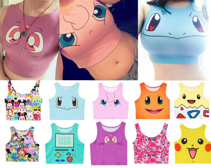 Pokemon Women Vest Tank Tops