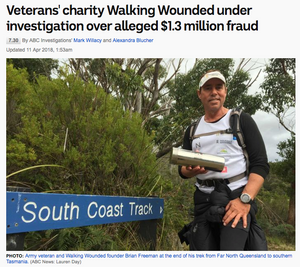 Remember the story about Walking Wounded?