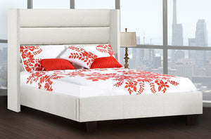 Hunter Winged Back Platform Bed