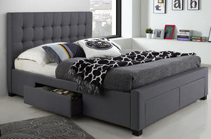 Grayson Charcoal Storage Platform Bed