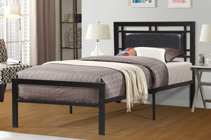 Lucas Black Twin Platform Bed