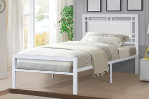Lucas White Twin Platform Bed