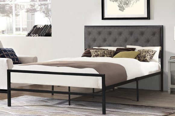 Ruby Grey Platform Bed