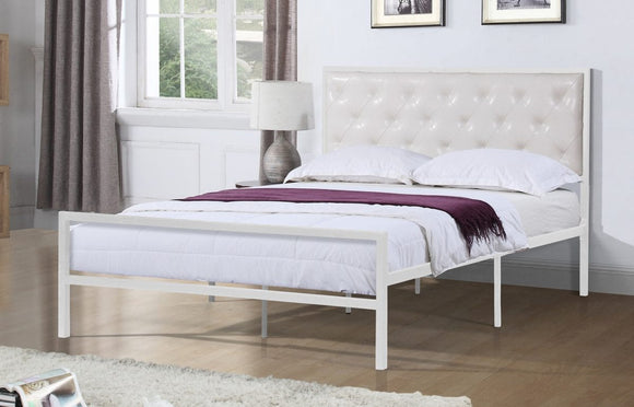 Ruby White Platform Bed