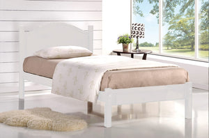 Cadan White Platform Bed