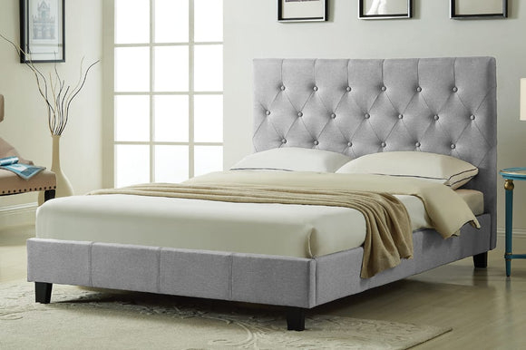 Isaac Grey Platform Bed