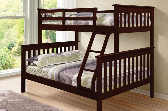Logan Twin/Full Bunk Bed (Grey, White, Espresso)