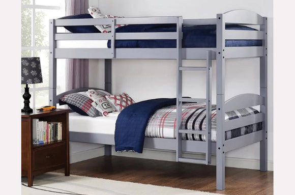 Jenny Twin/Twin Bunk Bed (Grey, White, Espresso)