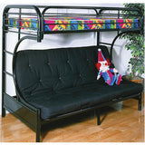 White or Black C-Futon Bunk Bed