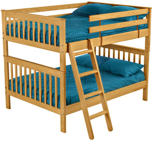 Twin, Full or Queen Mission Bunk Bed
