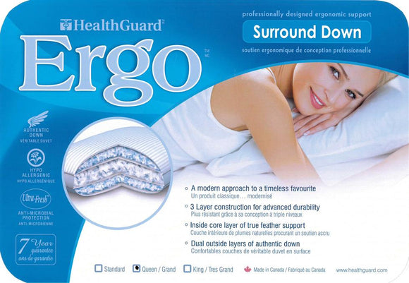 Ergo Goose Down Queen  Pillow