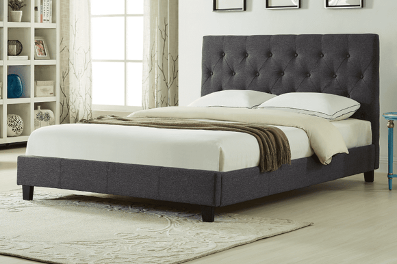 Isaac Charcoal Platform Bed