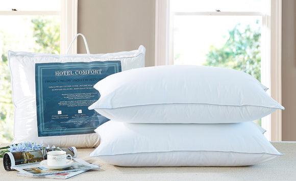 Hotel Comfort Egyptian Cotton Queen Pillows (2 Pack)