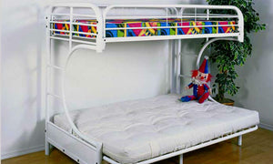 White or Black C-Futon Bunk