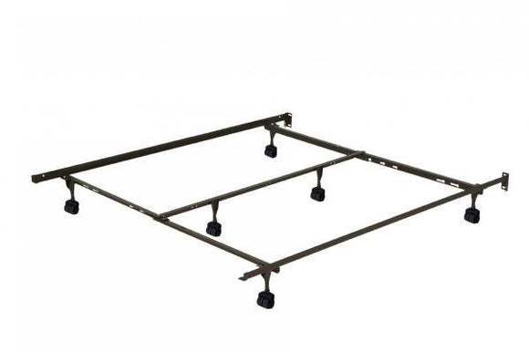 Twin/Full/Queen Deluxe Caster Bed Frame