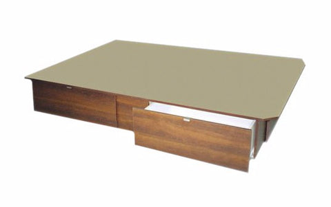 "13"" High 2 Side Drawer Platform Bed"