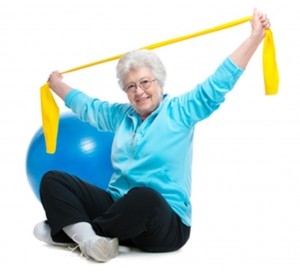 seated senior exerciser