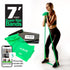 Super Exercise Band® LIGHT Strength Green 7 Ft. Latex Free Resistance Band With Travel Pouch, Exclusive iPhone App & Workout E-book©