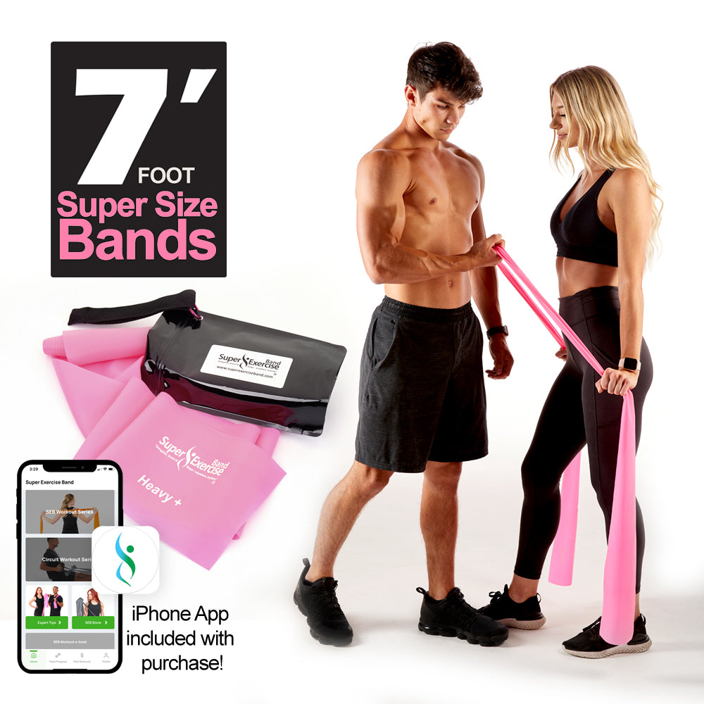 Extra Large with 6 Effective Home Worko... Details about  /Resistance Band Tube Exercise Cards