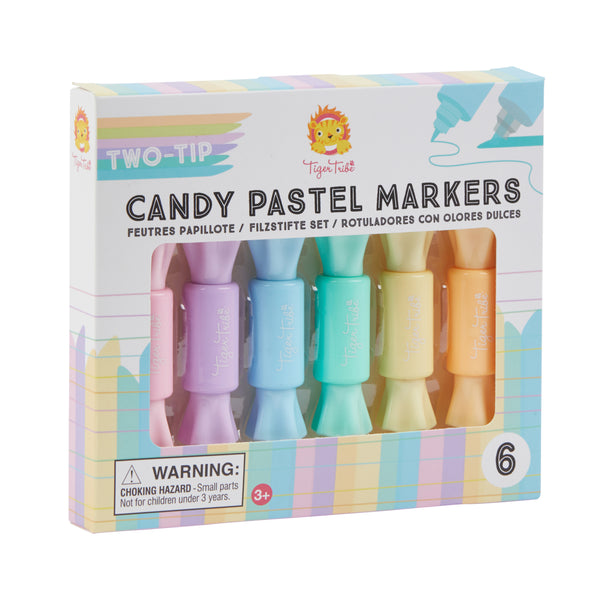 Two-Tip Candy Pastel Markers