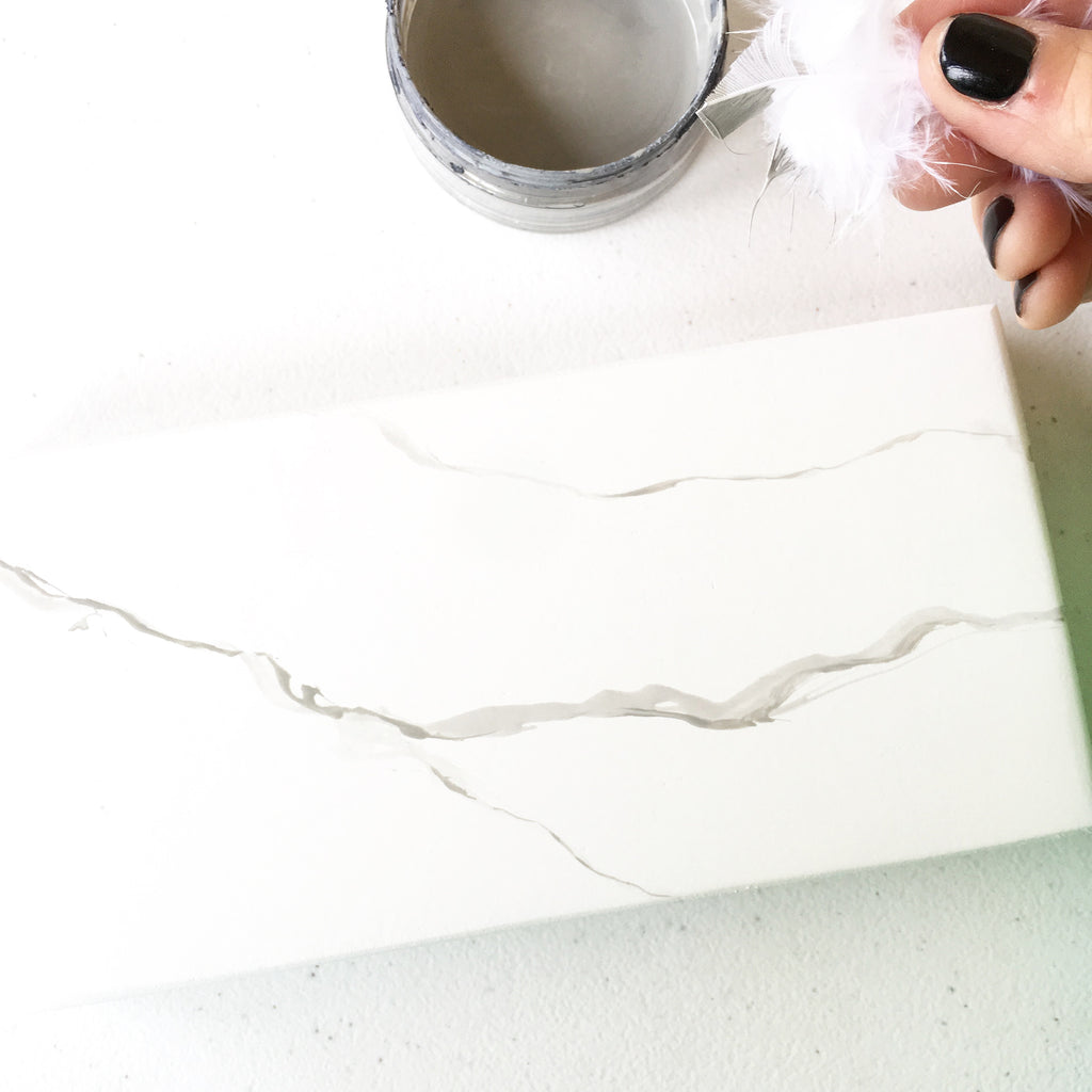 Hand Painted Faux Marble Tutorial