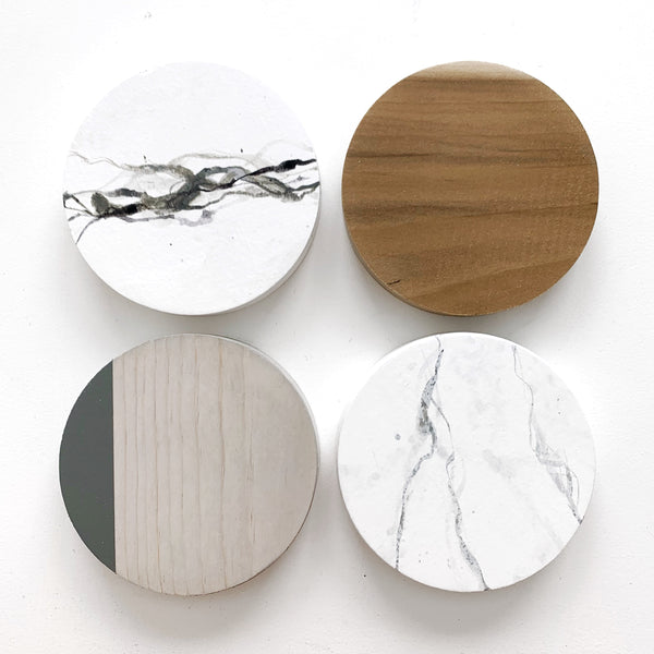 Marble Coasters set of 4