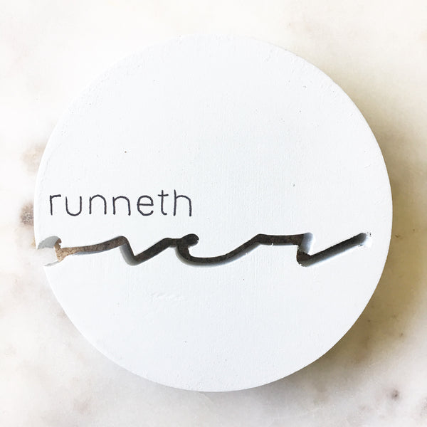 Runneth Over Coasters // Set of 2