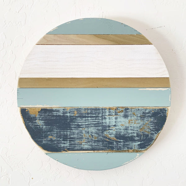 "12"" Distressed Blue Round"