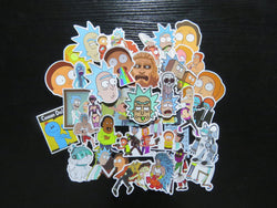 Rick and Morty 35 Sticker Pack, Sticker, Mokelli