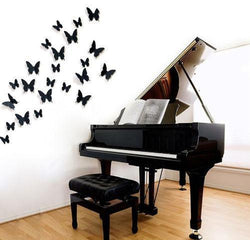 12Pcs PVC Butterfly Design Wall, Sticker, Mokelli