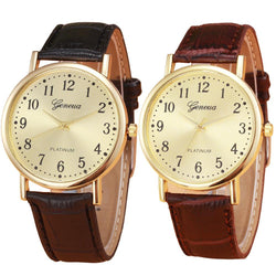 Classic Geneva Platinum Leather Watch, Watch, Mokelli