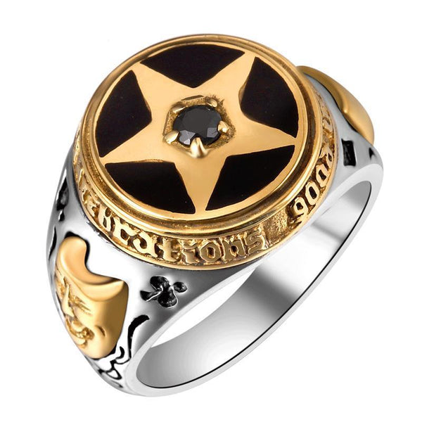 Ancient Joker Star Ring, Rings, Mokelli