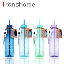 Transhome 650ml Straw Water Bottle