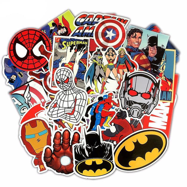 Premium Marvel Sticker Pack (50pcs)