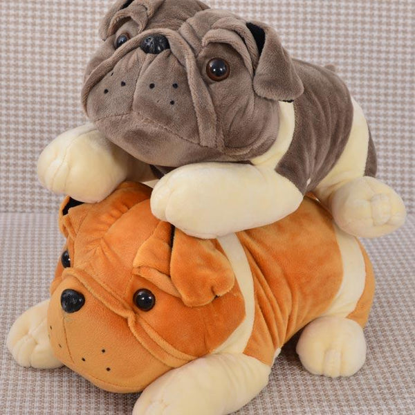 Cute Plush Bulldog Doll, Plush, Mokelli