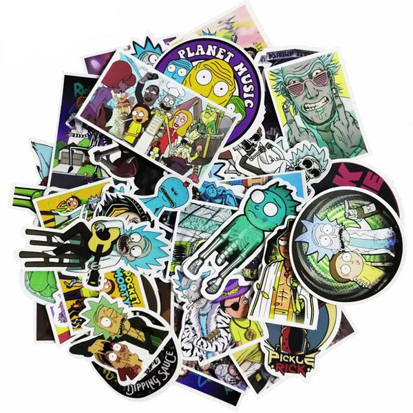 51 Pack New Rick and Morty stickers