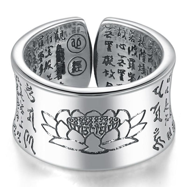 Lotus Heart Sutra Ring