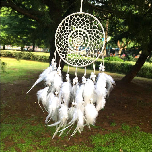 White Fluff Dreamcatcher